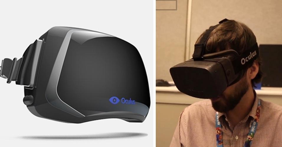 Óculos de realidade virtual. O Oculus Rift parece ser um gadget muito legal ? tanto que ultrapassou a meta de financiamento de US$ 250 mil e arrecadou US$ 2,4 milhões (R$ 5,3 milhões).