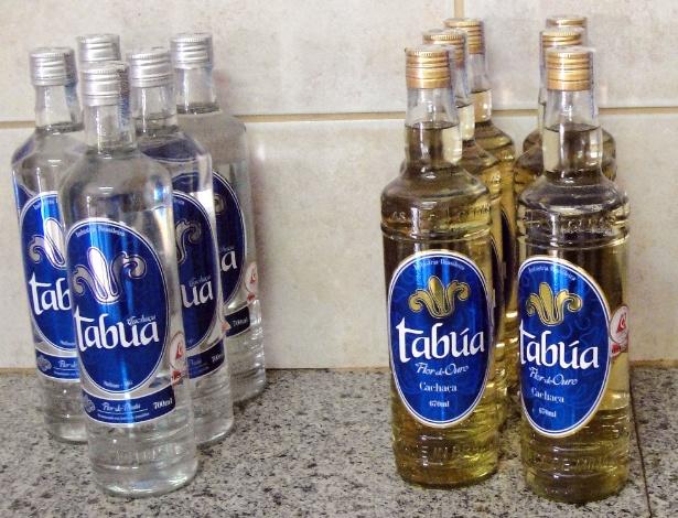 A cachaça Tabúa é produzida em Taiobeiras, na região de Salinas, e vendida nas versões prata e ouro