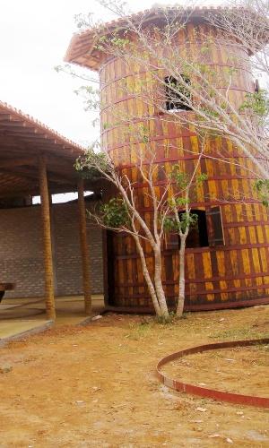 Complexo turístico em construção na sede da fazenda Tabúa, em Taiobeiras, na região de Salinas