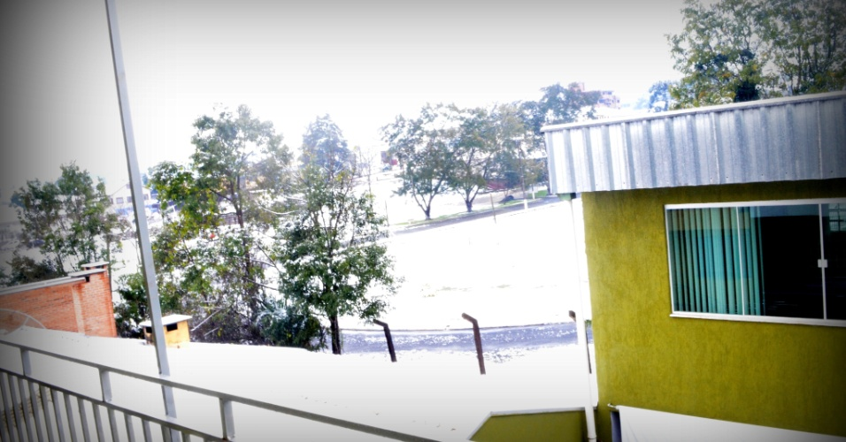 22.jul.2013 - Neve em Canoinhas (SC), em foto enviada pela internauta Susanne Paulo