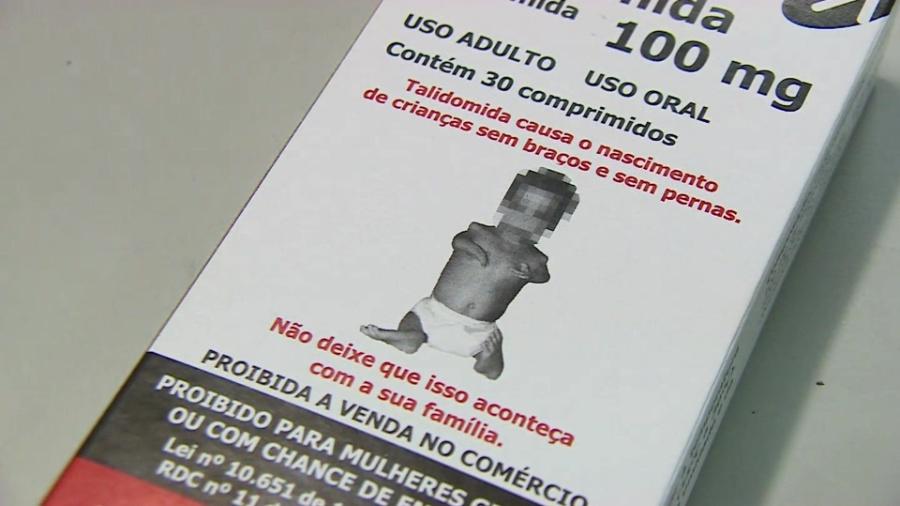 Caixa do remédio talidomida traz alertas nas embalagens - BBC