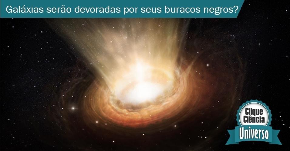 29.jul.2013 - clique ciência - Há um buraco negro no centro de cada galáxia? Elas serão devoradas por eles? - acima concepção artística mostra os arredores do buraco negro de elevada massa que se encontra no coração da galáxia ativa NGC 3783, na constelação do Centauro