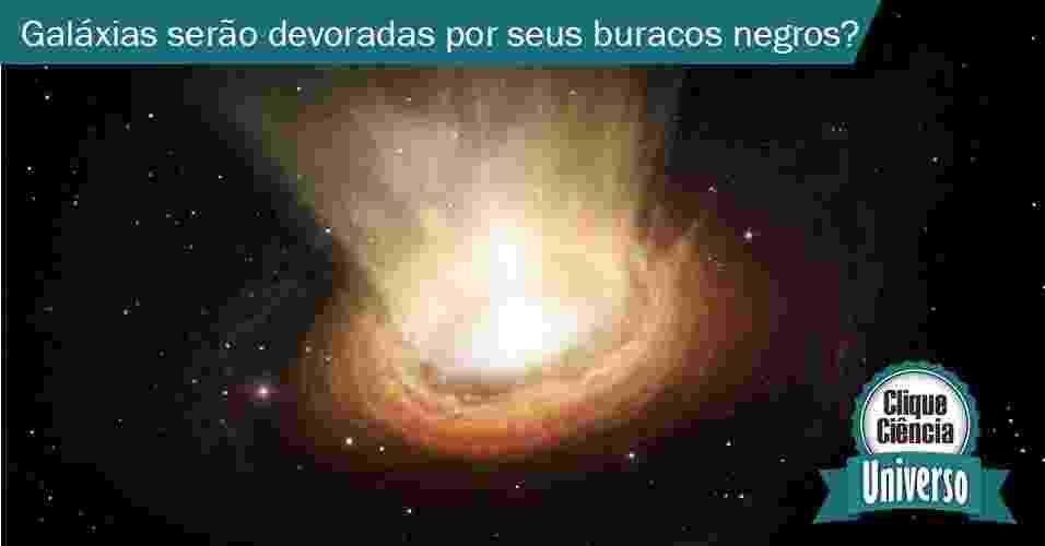 29.jul.2013 - clique ciência - Há um buraco negro no centro de cada galáxia? Elas serão devoradas por eles? - acima concepção artística mostra os arredores do buraco negro de elevada massa que se encontra no coração da galáxia ativa NGC 3783, na constelação do Centauro - ESO/M. Kornmesser