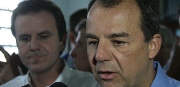 Em foto de 2013, os peemedebistas Eduardo Paes (à esq.) e Sérgio Cabral (à dir.)