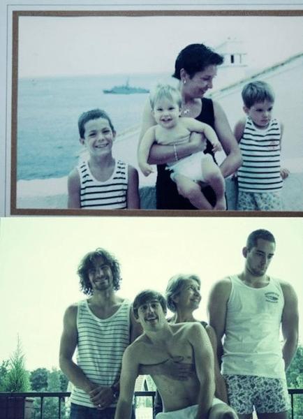 31.jul.2013 - Site reúne imagens de adultos que reconstituíram nos mínimos detalhes suas fotos da infância