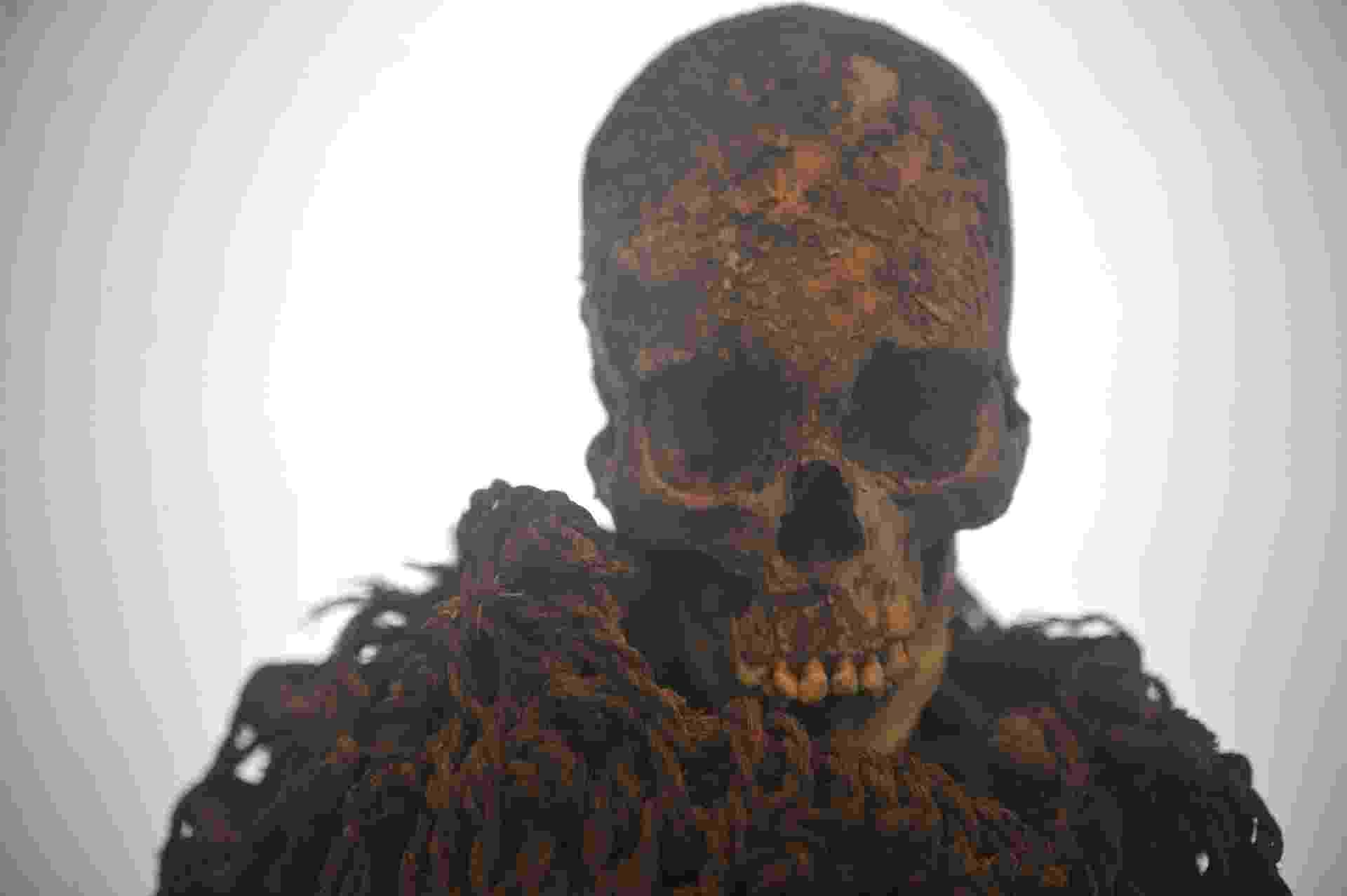 4.ago.2013 - Museu Nacional, na Quinta da Boa Vista, Rio de Janeiro, recebe o 8º Congresso Mundial de Estudos em Múmias, de 6 a 9 de agosto. A múmia Aymara faz parte do acervo do museu - Fernando Frazão/Agência Brasil