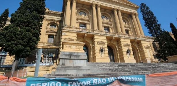 Fachada do Museu Paulista, na zona sul de São Paulo; conhecido como Museu do Ipiranga, ele está interditado desde 2013 - Gabriela Biló/Futura Press