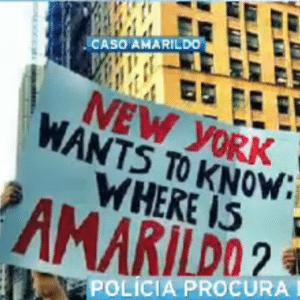 O caso Amarildo está repercutindo também no exterior. Manifestações individuais e coletivas ocorreram em Nova York (foto) e Buenos Aires - Band Entretenimento/Reprodução