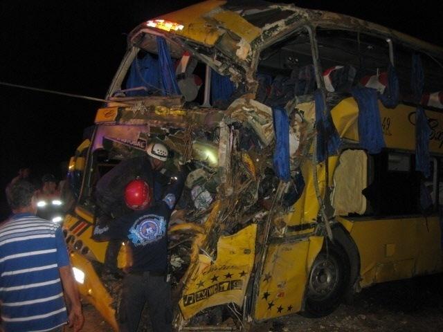 6.ago.2013 - Pelo menos nove pessoas morreram e 35 ficaram feridas em um acidente de ônibus em Táchira, oeste da Venezuela