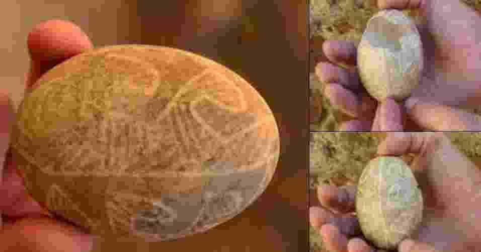 8.ago.2013 - A Academia de Ciências da Ucrânia divulgou nesta quinta-feira (8) ter encontrado um ovo de Páscoa de 500 anos em perfeito estado de conservação durante uma escavação no centro da cidade de L'viv. Segundo o arqueólogo Ostap Lazurko, o ovo de ganso foi encontrado dentro de um recipiente a cerca de 5,5 metros de profundidade, em uma espécie de poço do séculos 15-16. O ovo contém delicadas pinturas feitas à mão, antiga técnica eslavo-ortodoxa conhecida como pisanka no país - Reprodução