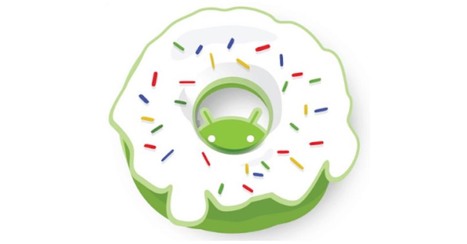 Na imagem, a versão oficial do Android 1.6 Donut. Os símbolos das versões do sistema, que são representados por doces, ganharam estilos diferentes nas mãos dos usuários
