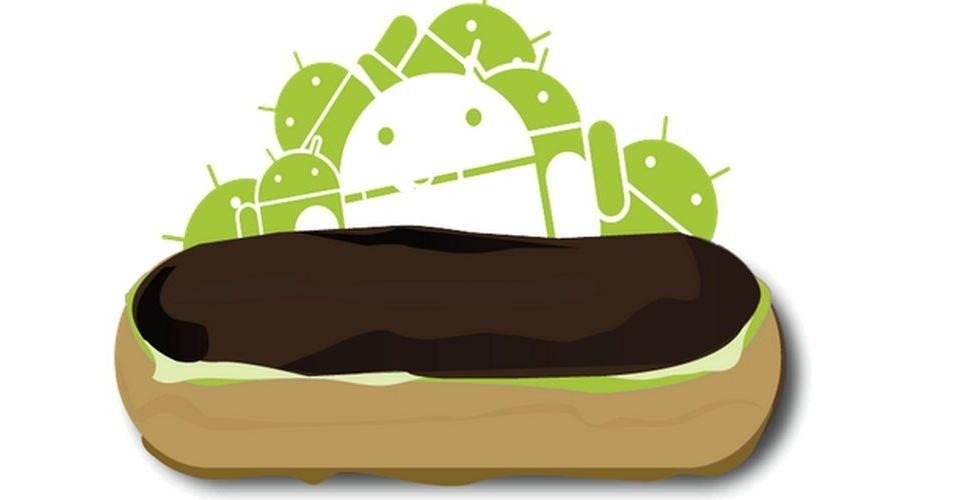 Na imagem, a versão oficial do Android 2.0 Eclair. Os símbolos das versões do sistema, que são representados por doces, ganharam estilos diferentes nas mãos dos usuários