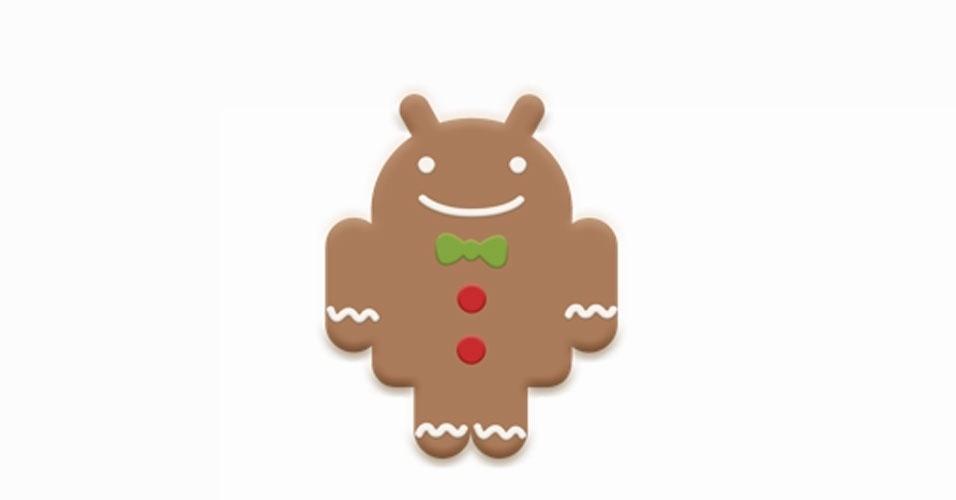 Na imagem, a versão oficial do Android 2.3 Gingerbread. Os símbolos das versões do sistema, que são representados por doces, ganharam estilos diferentes nas mãos dos usuários