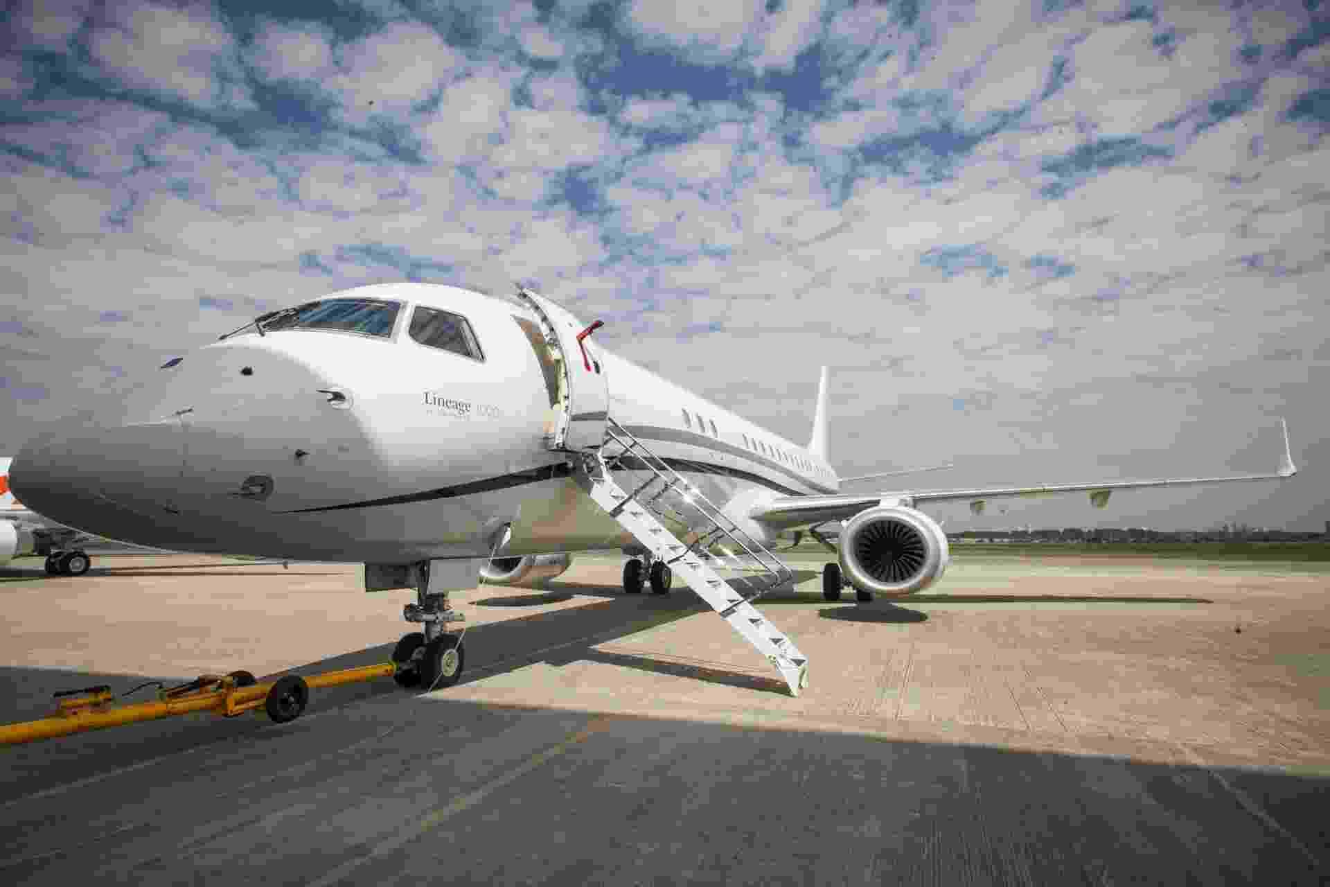 Jato Lineage 1000, da Embraer - Rodrigo Capote/UOL