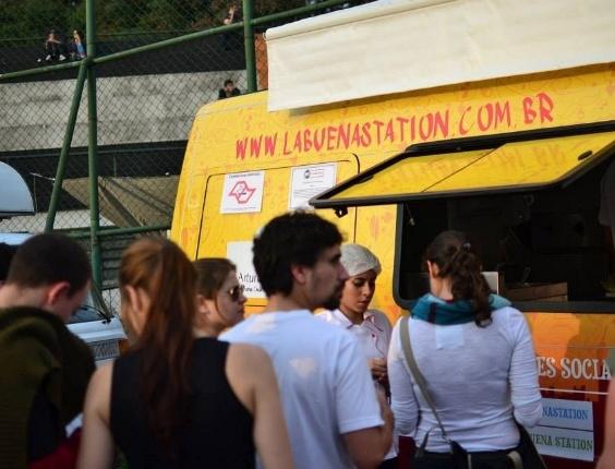 Restaurante de comida mexicana móvel La Buena Station, em São Paulo (SP)