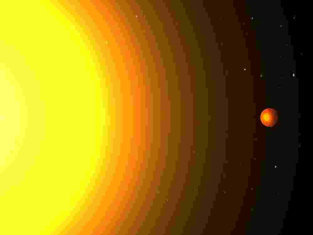 """20.ago.2013 -Cientistas do Instituto de Tecnologia de Massachussetts (MIT, na sigla em inglês) descobriram um novo planeta fora do Sistema Solar que demora apenas 8,5 horas para dar volta ao redor de seu estrela, isto é, para completar um ano - a Terra leva 365 dias para completar a volta no Sol. O Kepler 78b, que está a 700 anos luz de distância, tem um dos menores períodos orbitais já detectados pelos astrônomos, ressalta estudo do grupo no períodico """"The Astrophysical Journal"""" - Cristina Sanchis Ojeda/MIT"""