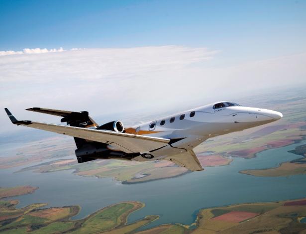 Avião Phenom 300, da Embraer, que custa cerca de  US$ 9 milhões - Embraer/Divulgação