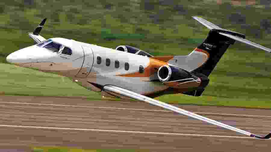 Partindo de São Paulo, o Phenom 300, da Embraer, consegue chegar a qualquer ponto da América do Sul sem reabastecer,  - Embraer/Divulgação
