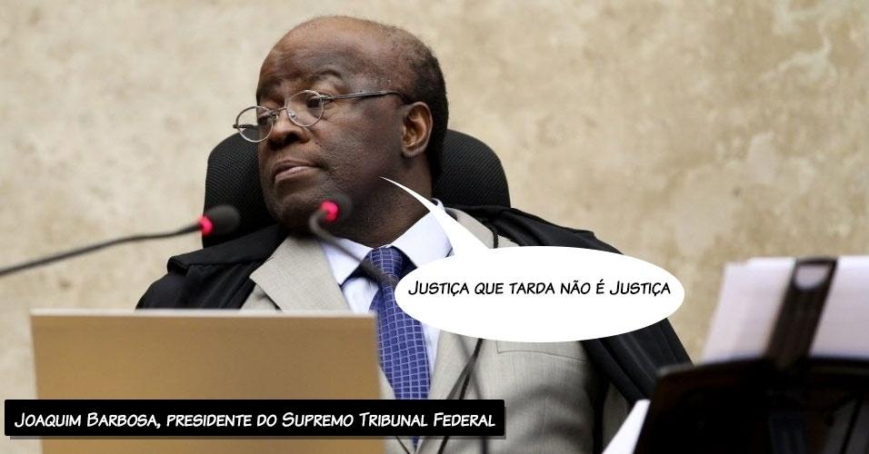 21.ago.2013 - Em sua fala de abertura da sessão desta quarta-feira (21) do julgamento dos recursos declaratórios da Ação Penal 470, conhecida como mensalão, o presidente do STF (Supremo Tribunal Federal), Joaquim Barbosa, afirmou que