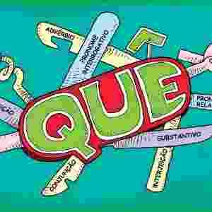 Charge feita para UOL Educação sobre erros mais comuns do português: usos do que (Fábio Sgroi/Página 3) - Fábio Sgroi/Página 3