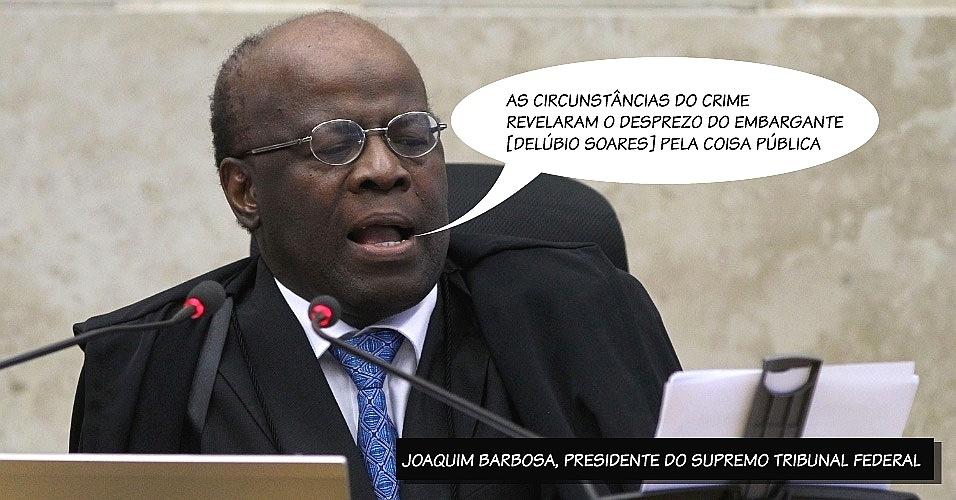 22.ago.2013 - O presidente do STF (Supremo Tribunal Federal), ministro Joaquim Barbosa, afirmou que Delúbio Soares, ex-tesoureiro do PT, tinha