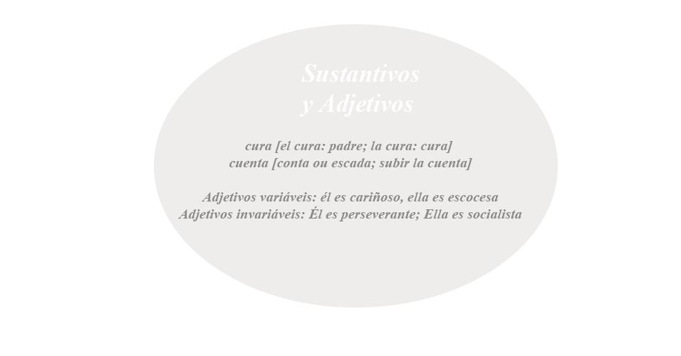 Adjetivos, substantivos, espanhol, gramática