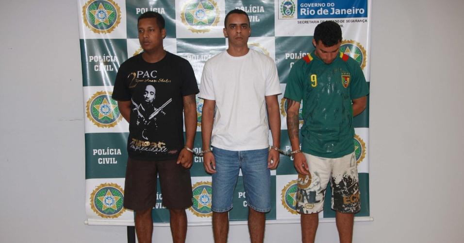 Os três suspeitos foram reconhecidos pelos policiais da UPP