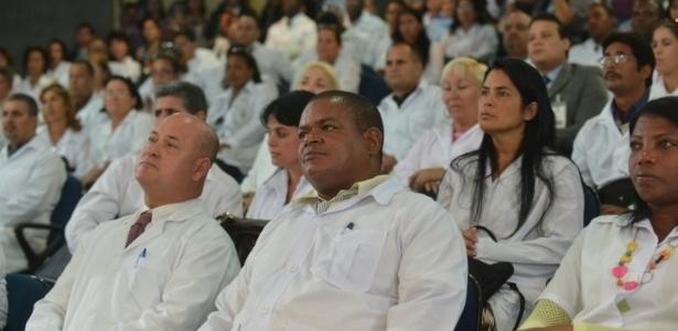 Médicos cubanos participam de treinamento ao chegar ao Brasil para participar do Mais Médicos em 2013 - Elza Fiuza/ABr