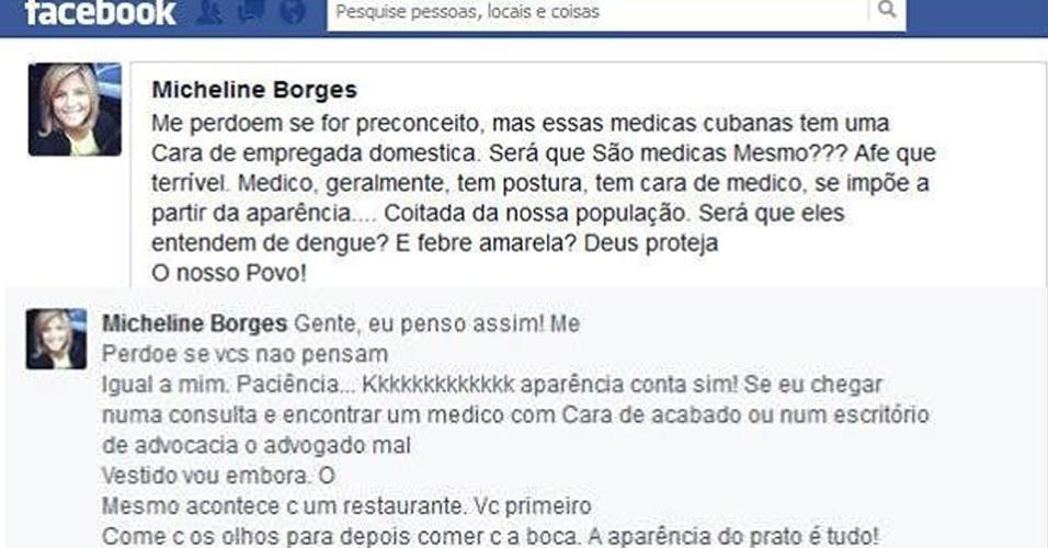 27.ago.2013 - Jornalista do Rio Grande do Norte afirmou que as cubanas tinham cara de empregada doméstica e questionou se elas realmente eram profissionais de saúde