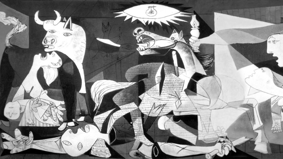 """Parte da obra """"Guernica"""", de Pablo Picasso - Reprodução"""