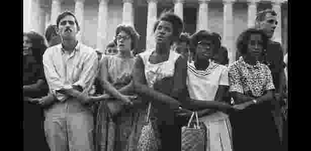 Registro do movimento pelos direitos civis dos negros nos Estados Unidos, na década de 1960 - Estate of Leonard Freed/Magnum Photos/BBC - Estate of Leonard Freed/Magnum Photos/BBC