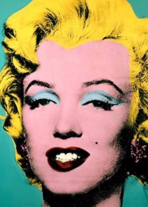 """Em """"""""Marilyn"""""""" (1962), de Andy Warhol, encontramos as principais características da Pop Art: por meio dos conceitos da publicidade, usando cores fortes e brilhantes, o artista faz uma crítica direta e irônica à sociedade consumista - Reprodução"""