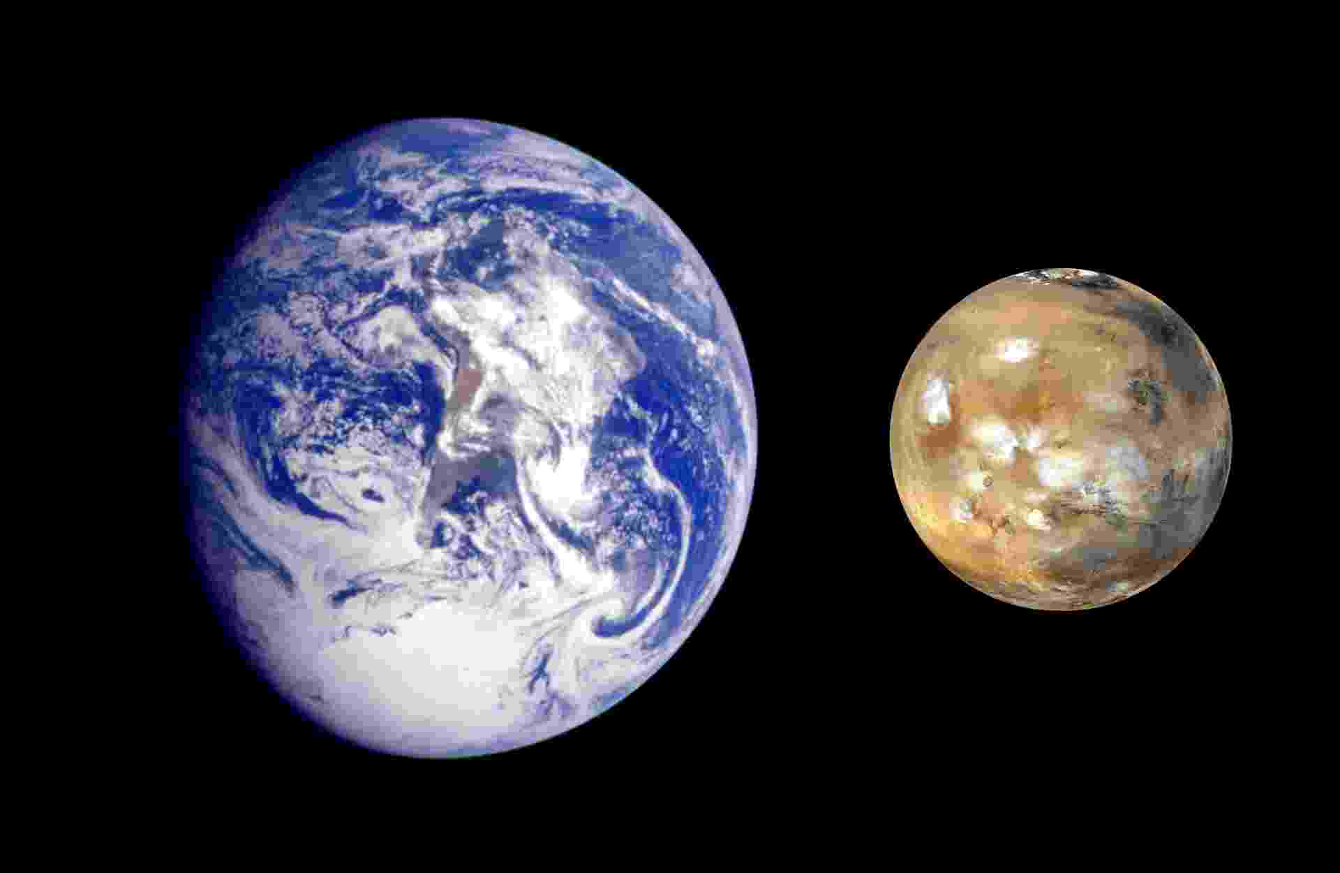 """29.ago.2013 - O químico Steven Benner, do Instituto de Ciência e Tecnologia de Westheimer (EUA), afirmou que a vida começou em Marte e só depois veio para a Terra por meio de meteoritos. A teoria foi apresentada nesta quarta-feira (28), durante palestra na Conferência de Goldschmidt, em Florença, na Itália. Para o cientista, o planeta vermelho foi o ambiente ideal para que minerais abundantes (como boro, molibdênio) reagissem para criar o RNA, que, no passado distante, tinha a """"função"""" que hoje é do DNA, de guardar o material genético. Sendo assim, para Benner, todos nós somos marcianos - Nasa/JPL"""