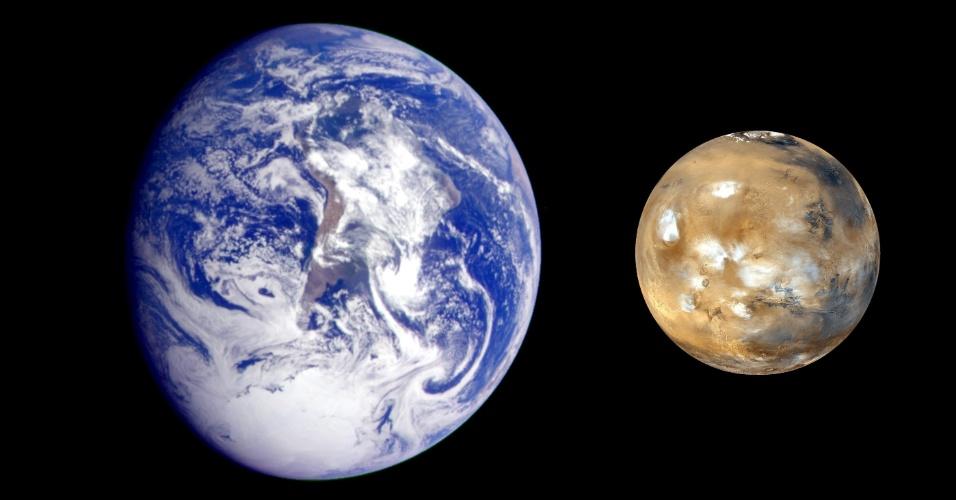 """29.ago.2013 - O químico Steven Benner, do Instituto de Ciência e Tecnologia de Westheimer (EUA), afirmou que a vida começou em Marte e só depois veio para a Terra por meio de meteoritos. A teoria foi apresentada nesta quarta-feira (28), durante palestra na Conferência de Goldschmidt, em Florença, na Itália. Para o cientista, o planeta vermelho foi o ambiente ideal para que minerais abundantes (como boro, molibdênio) reagissem para criar o RNA, que, no passado distante, tinha a """"função"""" que hoje é do DNA, de guardar o material genético. Sendo assim, para Benner, todos nós somos marcianos"""