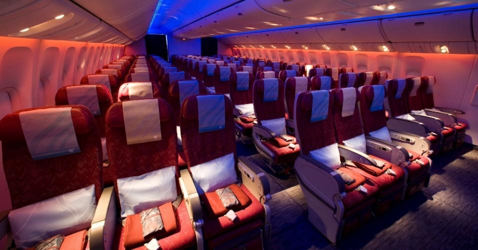 Classe econômica da Qatar Airways
