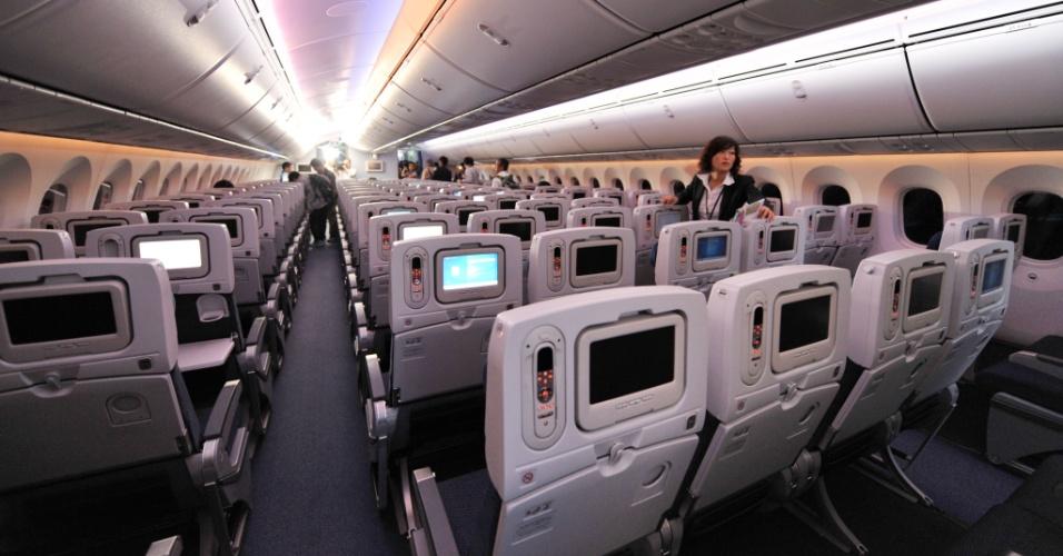 Classe econômica do Boeing 787 Dreamliner da All Nippon Airways (ANA)