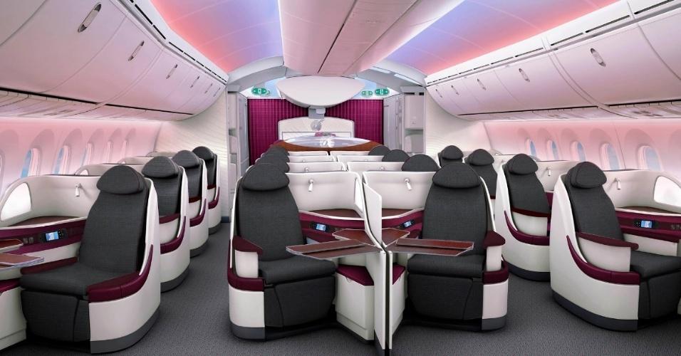 Classe executiva da Qatar Airways