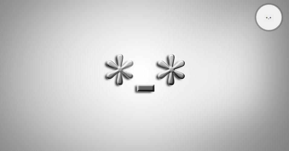 Na imagem, o emoticon *-* é uma pessoa atordoada de felicidade. O site 'Text Meanings' funciona como um dicionário de emoticons. O usuário digita o rostinho e a página traz o significado