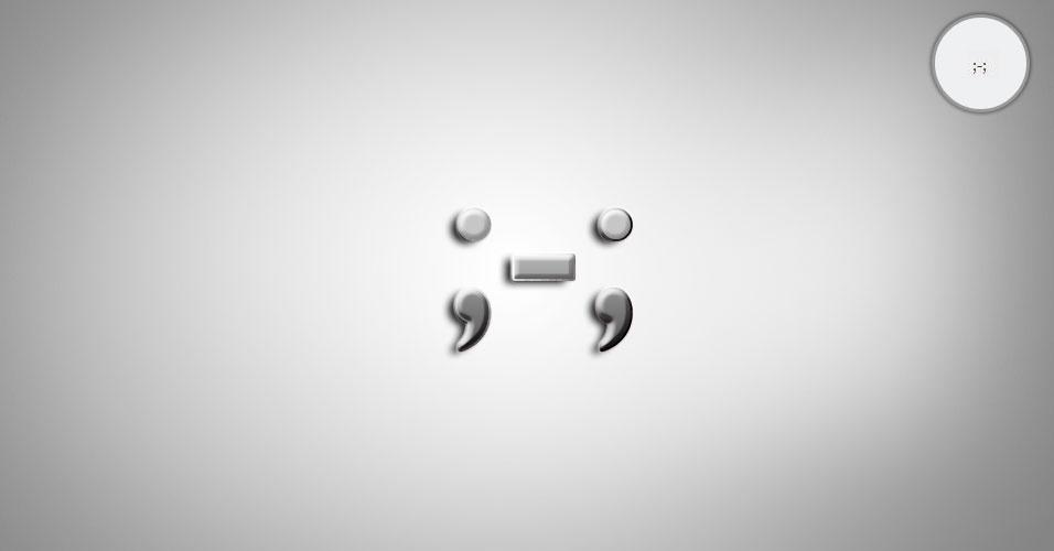 Na imagem, o emoticon ;-; é uma pessoa chorando. O site 'Text Meanings' funciona como um dicionário de emoticons. O usuário digita o rostinho e a página traz o significado