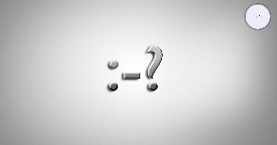 Na imagem, o emoticon :-? é uma pessoa fumando um caximbo. O site 'Text Meanings' funciona como um dicionário de emoticons. O usuário digita o rostinho e a página traz o significado