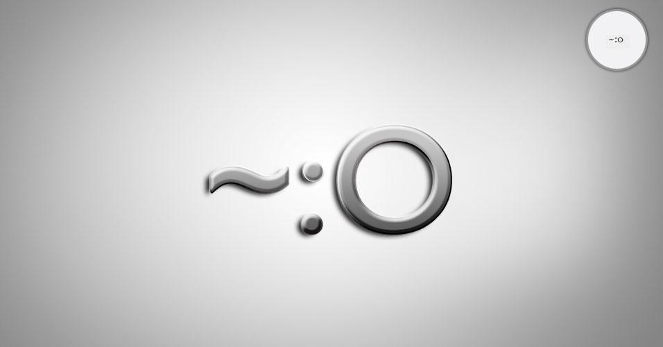 Na imagem, o emoticon ~:0 é um bebê. O site 'Text Meanings' funciona como um dicionário de emoticons. O usuário digita o rostinho e a página traz o significado