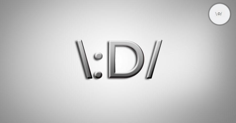 Na imagem, o emoticon \:D/ é uma pessoa dançando. O site 'Text Meanings' funciona como um dicionário de emoticons. O usuário digita o rostinho e a página traz o significado