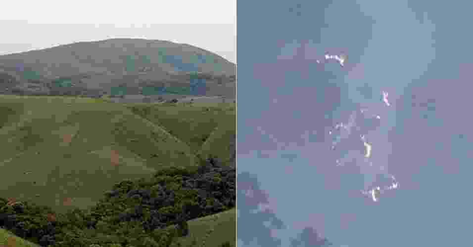 2.set.2013 - Um incêndio já destruiu cerca de 40% da mata nativa do Parque Estadual do Juquery, em Franco da Rocha, na região metropolitana de São Paulo. O fogo começou no domingo (1º), mas novos focos surgiram na manhã desta terça-feira (2). O parque de 2.058,09 hectares tem vegetação nativa da Mata Atlântica e abriga o último remanescente de Cerrado preservado na Grande SP - Divulgação/Reprodução TV Globo