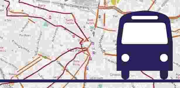 Veja o mapa das faixas e corredores exclusivos para ônibus já implantados na capital paulista -