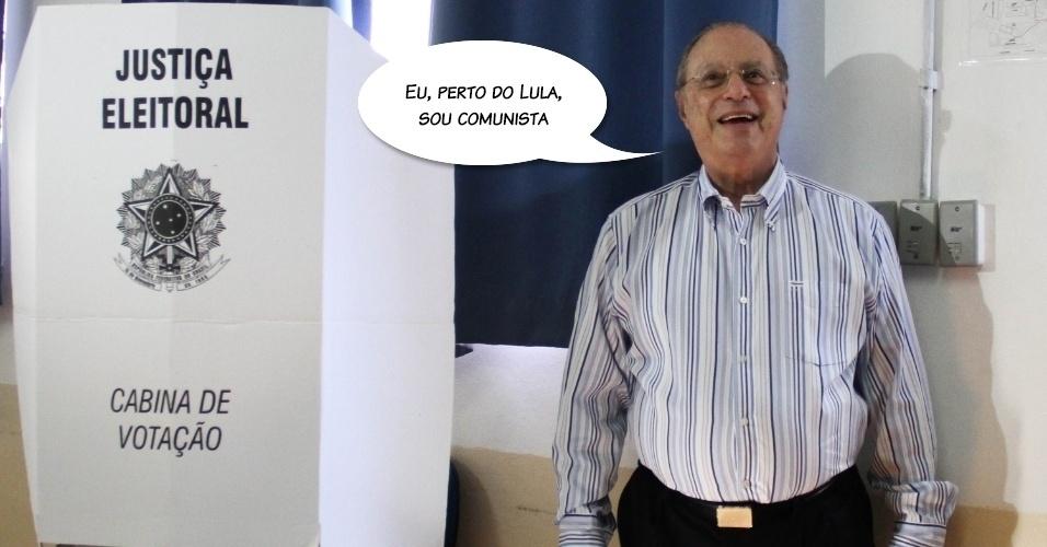 """""""Eu, perto do Lula, sou comunista"""", disse durante eleição para prefeito de São Paulo, em outubro de 2012"""