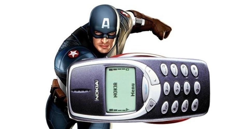 O escudo do Capitão América virou um celular da Nokia
