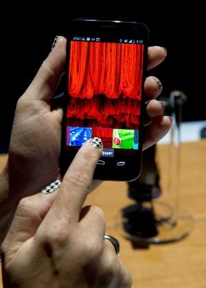 Smartphone Moto X, da Motorola, é apresentado durante evento realizado nos Estados Unidos - Don Emmert/AFP