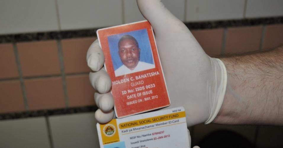 4.set.2013 - Mesmo internado e respirando com ajuda de aparelhos, o tanzaniano está sob escolta da polícia e deve responder pelo crime de tráfico internacional de drogas