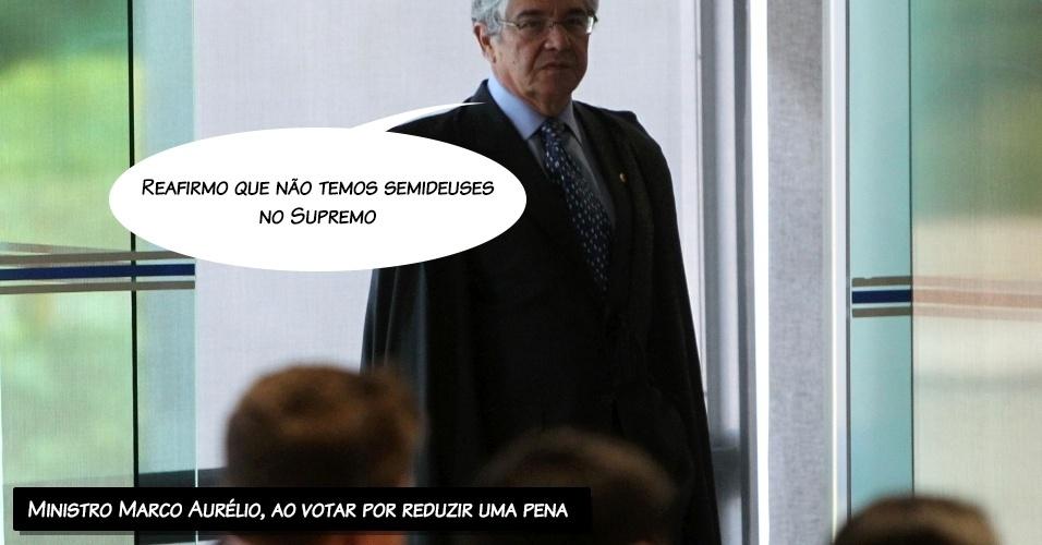 4.set.2013 - O ministro do STF (Supremo Tribunal Federal) Marco Aurélio Mello disse que não há
