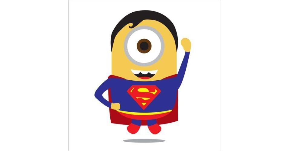 Na imagem, o Minion 'imitando' o Super-Homem. Os Minions, da franquia de filmes 'Meu Malvado Favorito', ganharam dezenas de versões diferentes nas mãos dos usuários